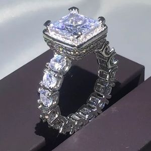 NEW SuperBling 925 SS CZ Wedding/Engagement Ring